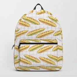 Baguette Set Stripes Seamless Vector Pattern, Hand Drawn Backpack
