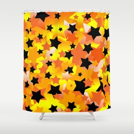 Halloween Stars Shower Curtain