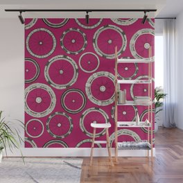 bike wheels pink Wall Mural