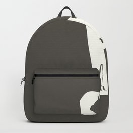 Delaware is Home - White on Charcoal Backpack
