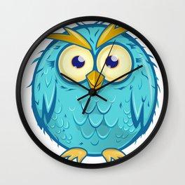 blue owl cartoon Wall Clock