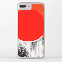 Sunshine And Rain Abstract Clear iPhone Case