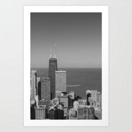 The Hancock in Black & White Art Print