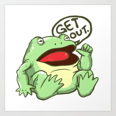GET OUT. Art Print