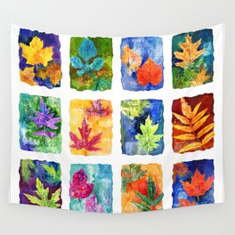 Colorful Summer Leaves Wall Tapestry