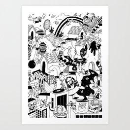 DOODLE WORLD Art Print