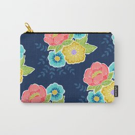 Floral Beauty - Midnight Carry-All Pouch