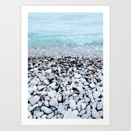 Cote d'Azur Waves Art Print