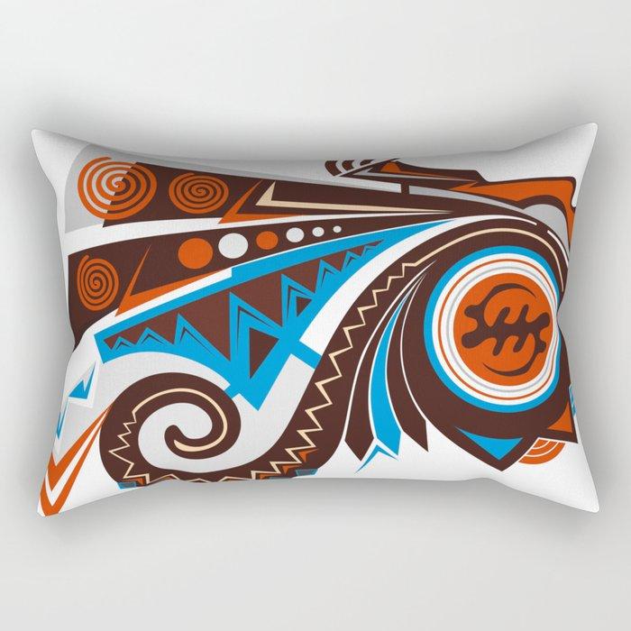 AKAN HEAD Rectangular Pillow