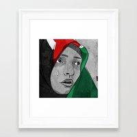 palestine Framed Art Prints featuring Palestine by jnk2007