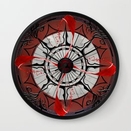 The War of Red Wall Clock