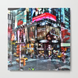 Times Square New York Metal Print