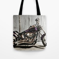 Purple Harley Softail Tote Bag