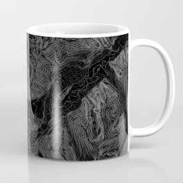 NORTH BEND WA TOPO MAP - DARK Coffee Mug