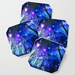 black trees purple blue space copyright protected Coaster