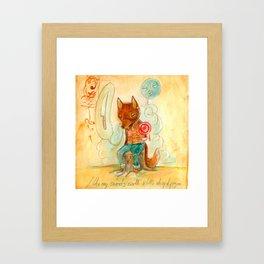 Little Drop of Poison Fox Framed Art Print