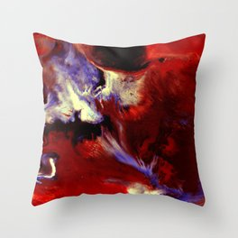 Abstract, Red, White, Violet, Black (CA17036C) Throw Pillow