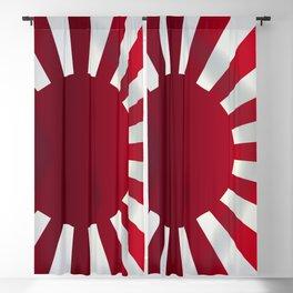 Japanese Rising Sun Flag Blackout Curtain