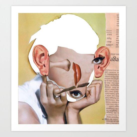 Audrey 2 Collage Art Print