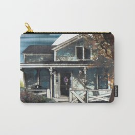 House, Vintage Mixed Media Photograph by Seattle Artist Mary Klump Carry-All Pouch
