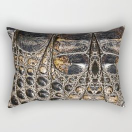 American alligator Leather Print Rectangular Pillow
