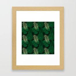Tropical Leaves Green Framed Art Print