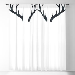 Antlers Black and White Blackout Curtain
