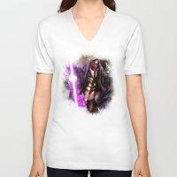 darth V-neck T-shirts featuring Darth Revan by Vincent Vernacatola