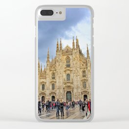 Busy Piazza Duomo Clear iPhone Case