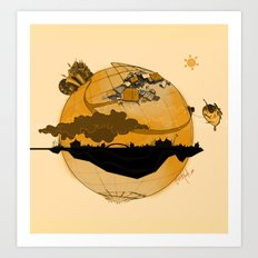 Eskisehir and Invisible World Art Print