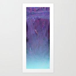 Waterfall koi fish (night-time version) Art Print