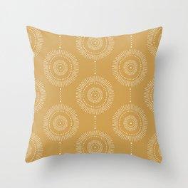 Glimmer - Boho Geometric Mustard Yellow Throw Pillow