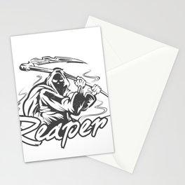 Hand Inked Grim Reaper Illustration Stationery Cards