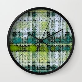Forest Marmalade Plaid Wall Clock