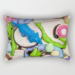 Dinos and Donuts Cake Makeover Rectangular Pillow