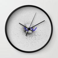 alisa burke Wall Clocks featuring GEOMETRY 6 by LEEMO