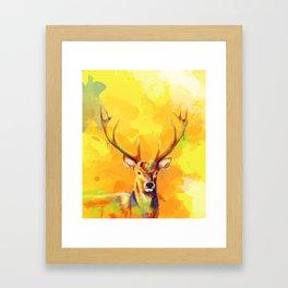 Forest King - Deer painting Framed Art Print