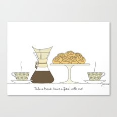 have a fika with me Canvas Print