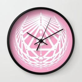 Radiant Abundance (pink-white) Wall Clock