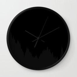Path of Brownian motion - dark - black and grey Wall Clock