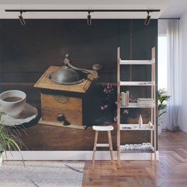 Vintage still life with coffee grinder Wall Mural