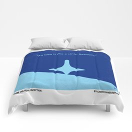 No240 My Inception minimal movie poster Comforters