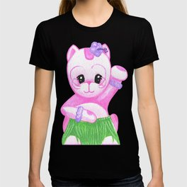 Lucky Cat Hula Girl T-shirt