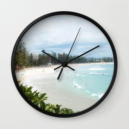 Manly Beach, Australia Wall Clock