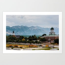 Summer in Salt Lake City Art Print