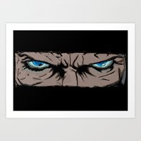 infamous Art Prints featuring Comic eyes (infamous) by  Steve Wade ( Swade)