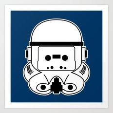 Cassette Trooper Art Print