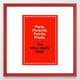 The New 4Ps Framed Art Print