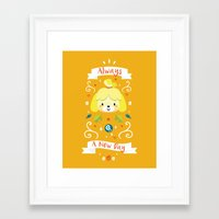 animal crossing Framed Art Prints featuring Animal Crossing: Isabelle by Anth Rodi