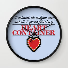 Lousy Heart Container Wall Clock